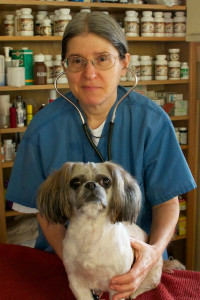 Dr. Andrea with Daisy